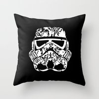 wwe Throw Pillows featuring Trooper by eARTh