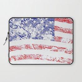 Grunge style American flag Laptop Sleeve