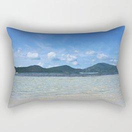 Down at Wave Level Rectangular Pillow