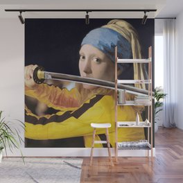 """Vermeer's """"Girl with a Pearl Earring"""" & Kill Bill Wall Mural"""