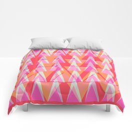 Cray ZigZag   pink apricot fuchsia Comforters