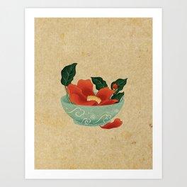 Minhwa: Camellia Bowl B Type Art Print