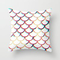 koi fish Throw Pillows featuring Koi Fish by JoanaRosaC