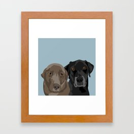 Two Labradors Framed Art Print