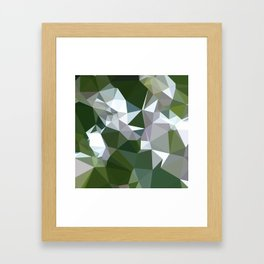 Castleton Green Abstract Low Polygon Background Framed Art Print
