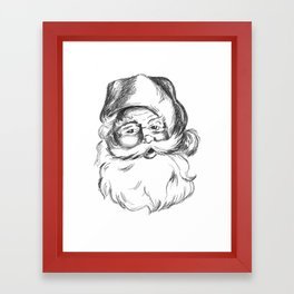 Jolly St. Nick Framed Art Print
