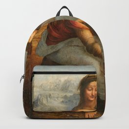 Leonardo da Vinci - Virgin and Child with St Anne Backpack