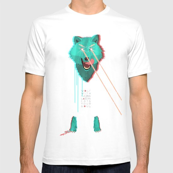 Wolf With F**king lasers T-shirt