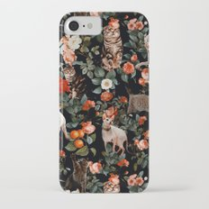 Cat and Floral Pattern II Slim Case iPhone 7
