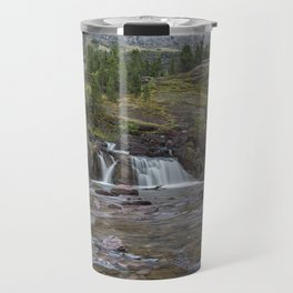 Redrock Falls - Glacier National Park Travel Mug