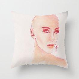Baldy Throw Pillow