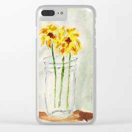 Still Flowers Clear iPhone Case