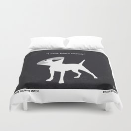 No079 My Snatch minimal movie poster Duvet Cover
