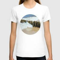 wooden T-shirts featuring Wooden Breakwater by Pati Designs & Photography