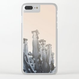 Cacti photo, soft palette, Clear iPhone Case