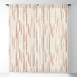 Cavern Clay SW 7701 Grunge Vertical Stripes on Creamy Off White SW7012 Blackout Curtain