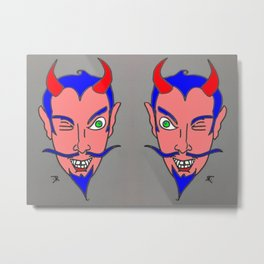 WINK WINK-DEVIL HEADS Metal Print