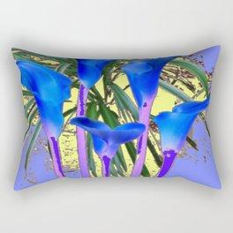 MODERN BLUE CALLA LILIES YELLOW GARDEN Rectangular Pillow