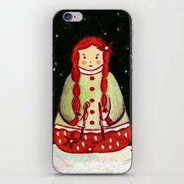 Winter Magic Girl iPhone Skin