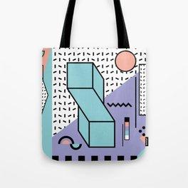 Memphis Pattern - 80s Retro - Pastel Colors Tote Bag