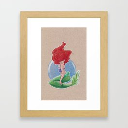 A Bubble Under The Sea Framed Art Print