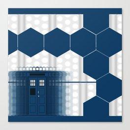 Tardis Shadow Blue Box Canvas Print