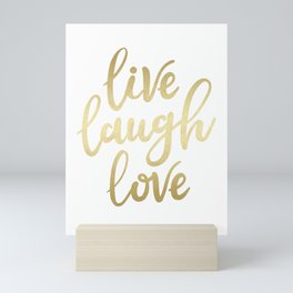 Live Laugh Love II Mini Art Print