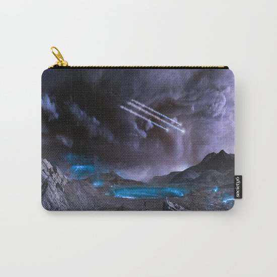 Extraterrestrial Landscape : Galaxy Planet Carry-All Pouch