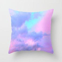 Candy sky Throw Pillow