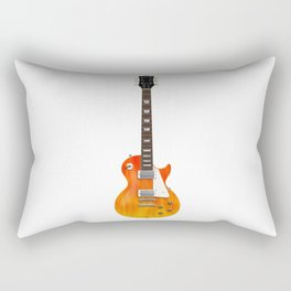 Guitar With Fire Graphics Rectangular Pillow
