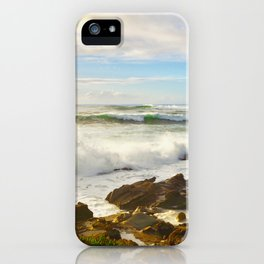 Waves crashing on the 17 mile drive iPhone Case