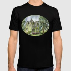The Green Clapboard House Mens Fitted Tee Black MEDIUM