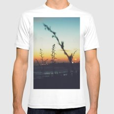 Away from the city White Mens Fitted Tee MEDIUM