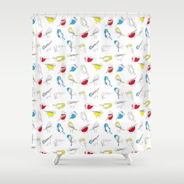 Primary Tits Shower Curtain