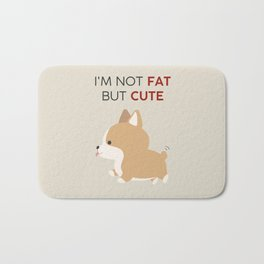 Not fat but cute corgi Bath Mat