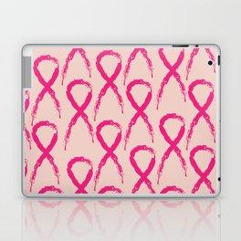 Grunge pink ribbon Laptop & iPad Skin