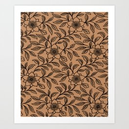 Butterum Lace Floral Art Print