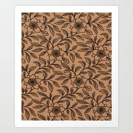 Butterum Lace Floral Art Print