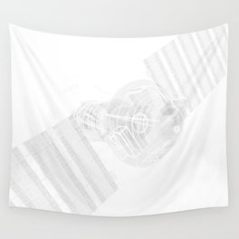 Explorer White and Grey Wall Tapestry