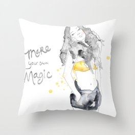 Make your own Magic Watercolor painting Throw Pillow