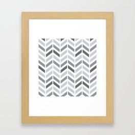 Chevron Grey Small Pattern Framed Art Print