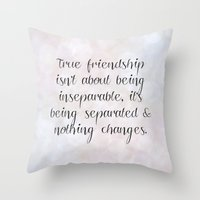 friendship Throw Pillows featuring Friendship by C Designz