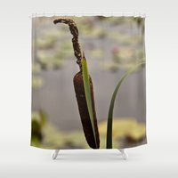 rush Shower Curtains featuring Bull Rush by Wealie