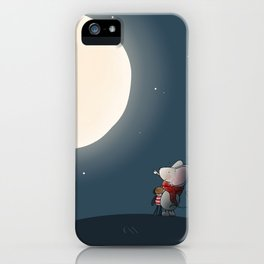 Little Mouse - Full Moon iPhone Case