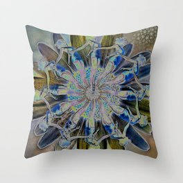 Daisy Chain Mandala Throw Pillow