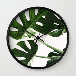 CloseUp Monstera Wall Clock