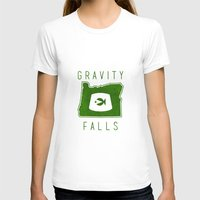 fez T-shirts featuring Gravity Falls - Grunkle Stan's Fez (White) by pondlifeforme