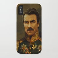 tom selleck iPhone & iPod Cases featuring Tom Selleck - replaceface by replaceface