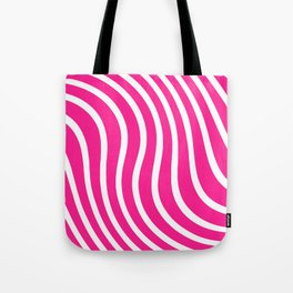 hot pink waved pattern Tote Bag