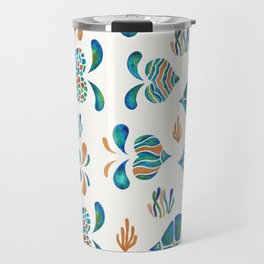 Cute abstract fish with metallic copper accents Travel Mug